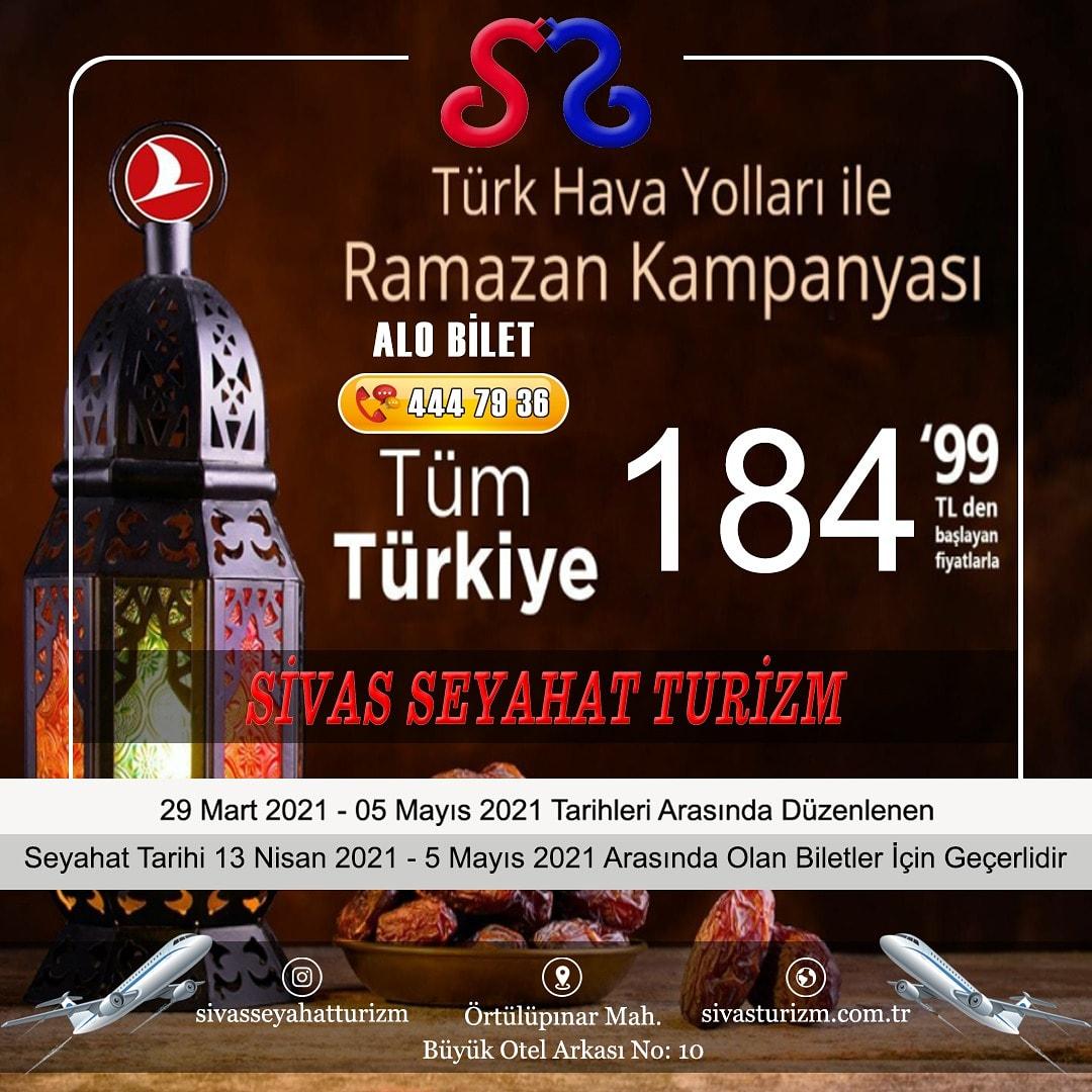 Sivas Seyahat Turizmde THY Yurt İçi Ramazan Kampanyası ✈️